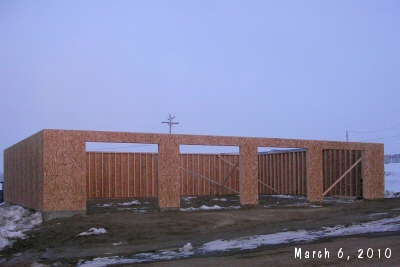 New storage building going up in Richey, MT